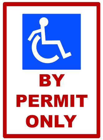 handicap parking by permit only sign - vector Stock Vector - 2740771