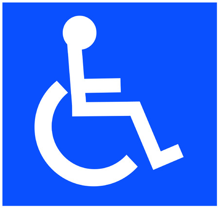 white handicap or wheelchair accessible symbol on white background - vector Stock Vector - 2740767