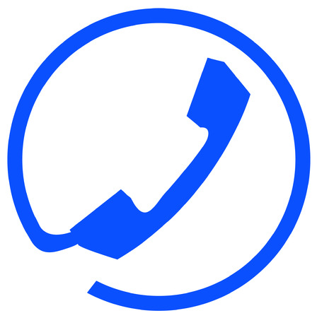 phone connection symbol or icon on white background - vector Illustration