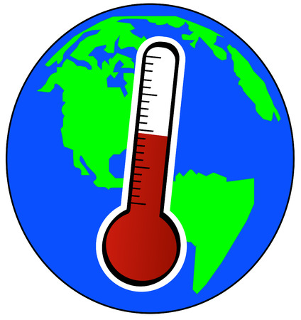 globe and thermometer - concept of global warming - vector Stock Vector - 2752122