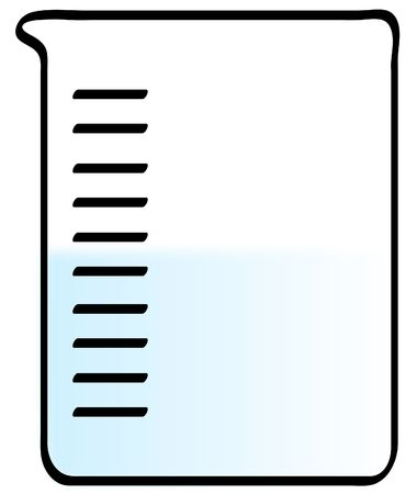 avian flu: science experiment - beaker with water on white - vector