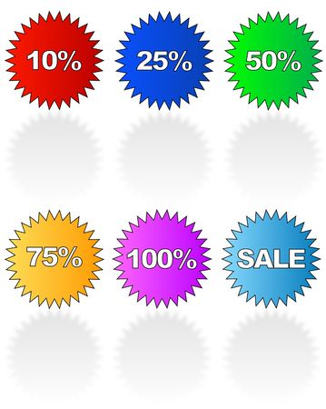 promotional sale stickers with various retail uses - vector Stock Photo - 2757526