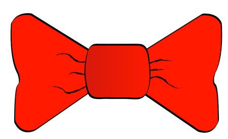 solemn: rojo bowtie aisladas sobre fondo blanco - vector