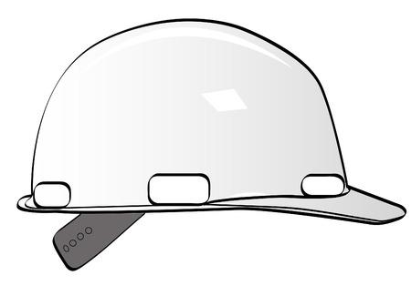 handy man: lavoratori edili Hard Hat su bianco - vettore