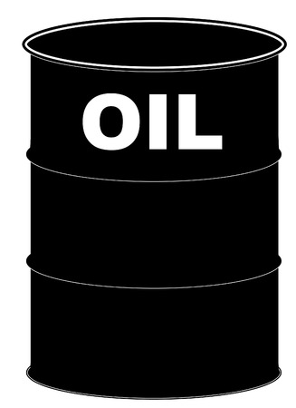 oil barrel: black oil barrel on white background - vector