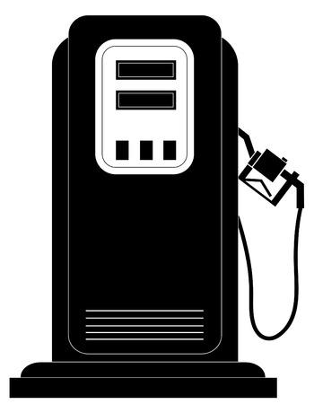 unleaded: black gas or fuel pump silhouette - vector