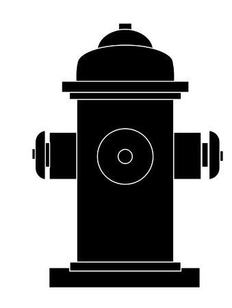 fire plug: outline of fire hydrant  Illustration