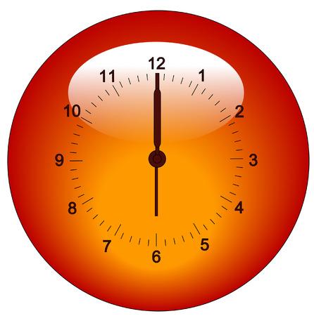 adjustable: clock face button or icon - adjustable hands - vector