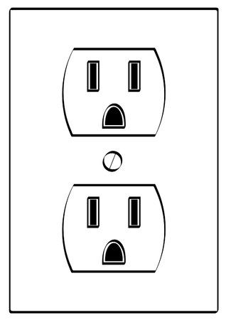 recarga: esbozo de energ�a el�ctrica a tierra de salida - vector  Vectores