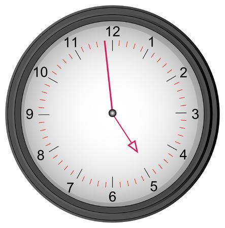 five objects: grigio orologio mostrando uno a cinque minuti - tempo di smettere