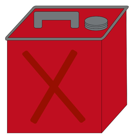 red gas can or container - vector  Vector