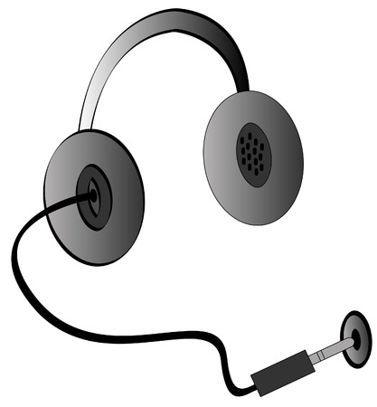 plugged: headphones being plugged into a jack for power - vector Illustration