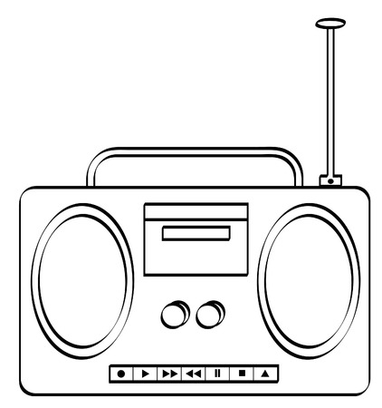 music stereo or radio boombox - vector Stock Vector - 2893745