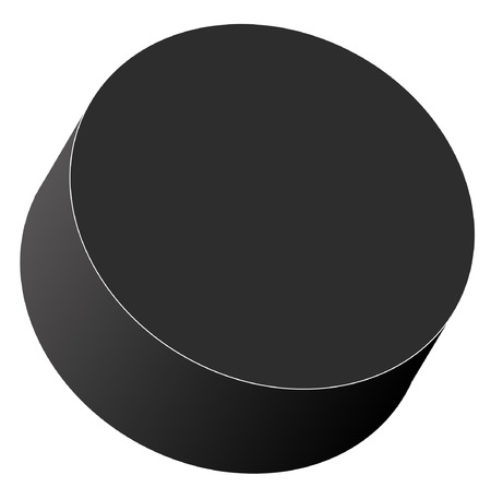 defense equipment: hockey puck isolated on white background - vector