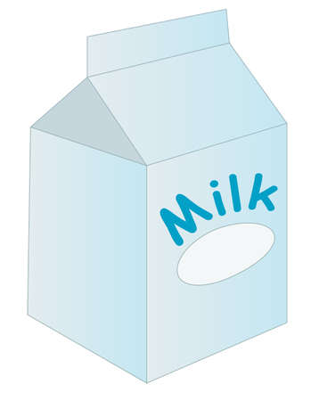 flavorful: vector illustration of box or carton of milk