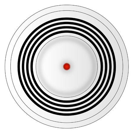 smoke alarm: illustration of smoke detector Stock Photo