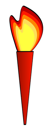 abstract illustration of burning flaming torch - vector Vector