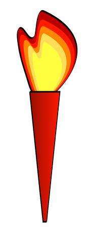 burning: abstract illustration of burning flaming torch - vector Illustration