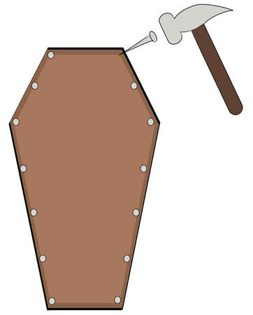 coffin: putting the last nail in the coffin - vector