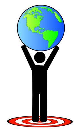 attaining: stick figure attaining global goal