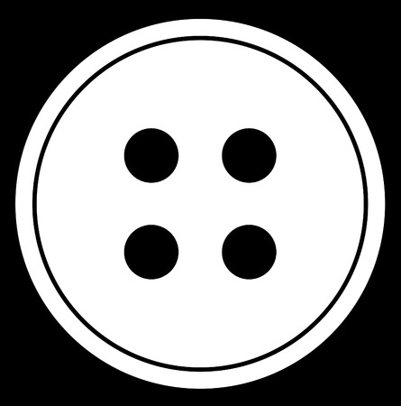 white: four hole button abstract in black and white - vector Illustration
