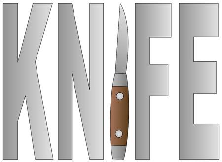 part of me: cuchillo de bolsillo como parte de la i en la palabra cuchillo - de vectores