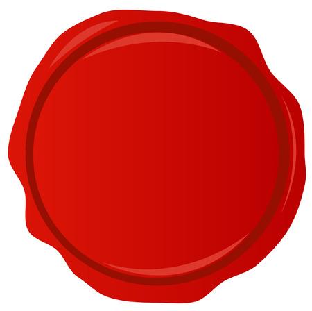 tampon cire: cachet de cire rouge avec de la place pour copyspace - vecteur Illustration