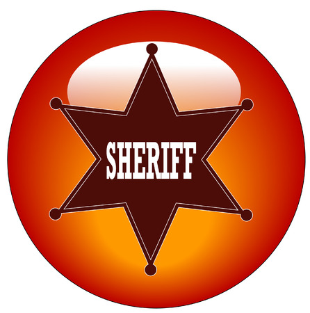 red sheriff web button or icon - vector illustration Vector
