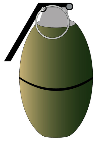 frag: illustration of hand grenade not yet detonated