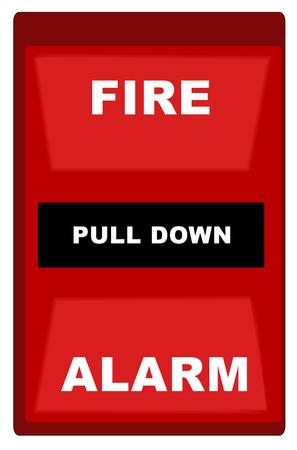 incendio casa: Red de alarma contra incendios  Vectores