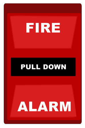 emergency response: red fire alarm