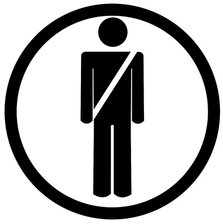 airport security: use your seat belt sign or symbol - vector illustration