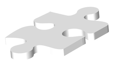 illustration of a white abstract puzzle piece Vector
