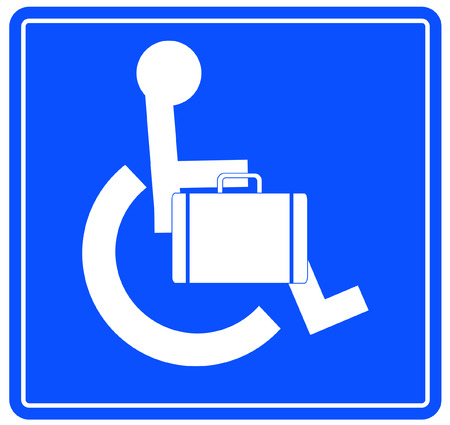 handicap or wheelchair person sign carrying briefcase Stock Vector - 3296220