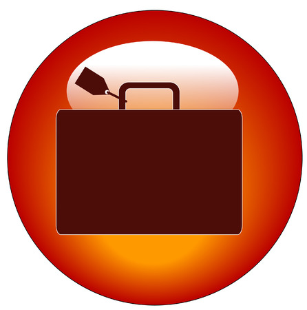 red icon with luggage marked with name tag Stock Vector - 3298623