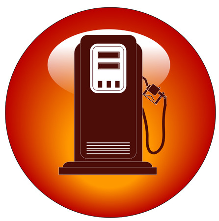 octane: red petrol or gas pump web button or icon