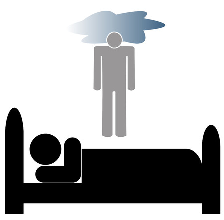 vision loss: man lying in bed with depression unable to get out of bed