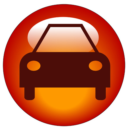 button or icon for an automobile or a car Vector