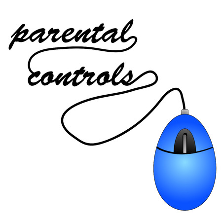 porn: mouse with cord spelling out word parental controls