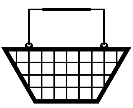 illustration of a black shopping basket symbol Vector