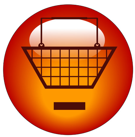 minus sign: shopping basket with minus sign icon - remove from shopping cart