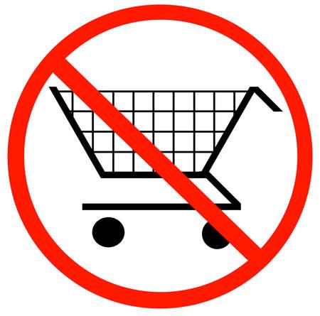 prohibido: con carrito de la compra no permiti� s�mbolo - no permite carros de la compra