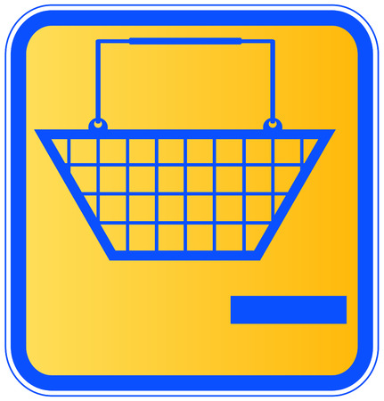 ownership: shopping basket with minus sign icon - take out of shopping cart