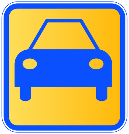 sign or icon for an automobile or a car Vector