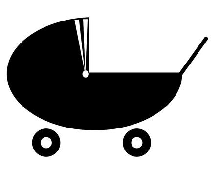 silhouette of a  pram or stroller Stock Vector - 3436108