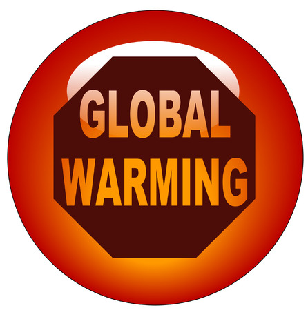 stop global warming: red button or icon - stop global warming