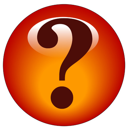 whose: red question mark web button or icon Illustration