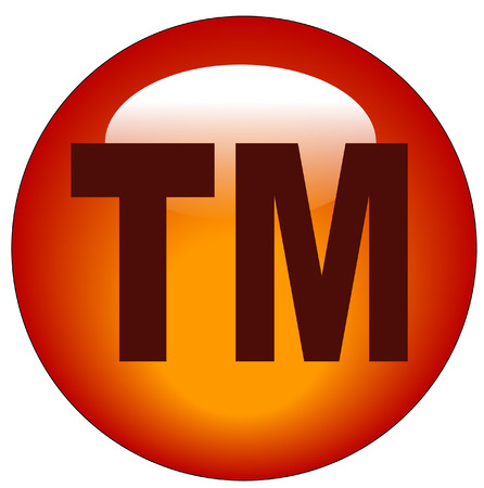 tm: red trademark or tm web button or icon - illustration