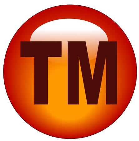 trademark: rojo marca o tm web bot�n o icono - ilustraci�n
