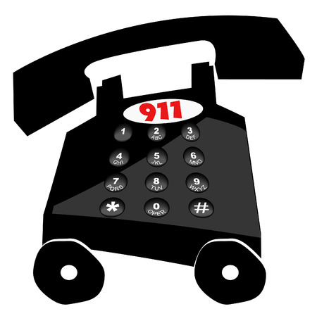 telephone dialing emergency in a hurry - 911